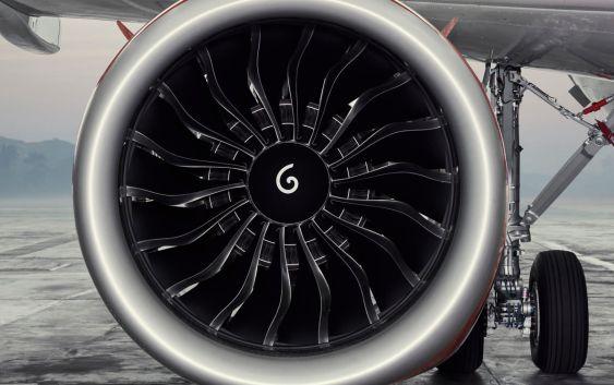 En SAS A320neo-motor. Foto fra SAS.