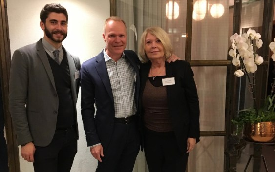 Edward Rogers, Account Manager, Avvio, Jan Lundberg, Vice President Revenue Management & Distribution, Scandic Hotels, and Ingunn Hofseth, President & CEO, HSMAI Region Europe, at the Distribution & marketing strategy conference in Stockholm on 10 November 2016.