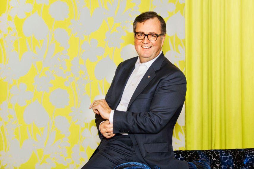 Konserndirektør for Thon Hotels, Morten Thorvaldsen. Fotograf: Gry Traaen.