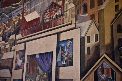 Freskoen til Per Krogh i den gamle ekspedisjonshallen til Oslo Lysverker. Fotograf: Roberto di Trani.
