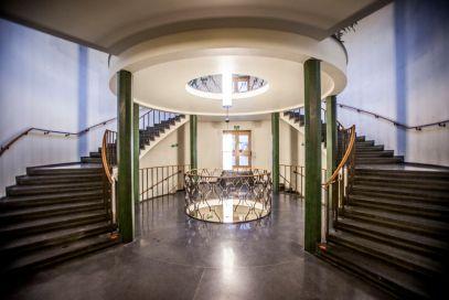 Lobbyen i det gamle Oslo Lysverker-bygget er spektakulær, og vil bli bevart. Fotograf: Roberto di Trani.