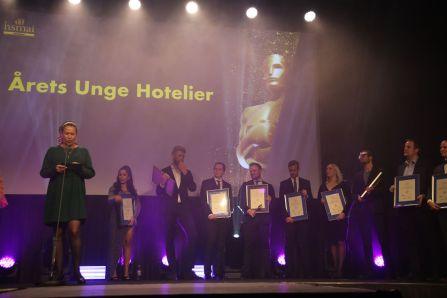 De nominerte til Årets unge hoteliér 2018. Fotograf: Camilla Bergan.