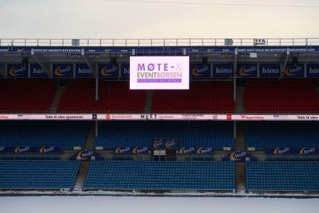 Ullevaal stadion sto i sin fineste HSMAI-stas under HSMAI Møte- og eventbørsen i Oslo tirsdag 8. januar 2019. Fotograf: Camilla Bergan.