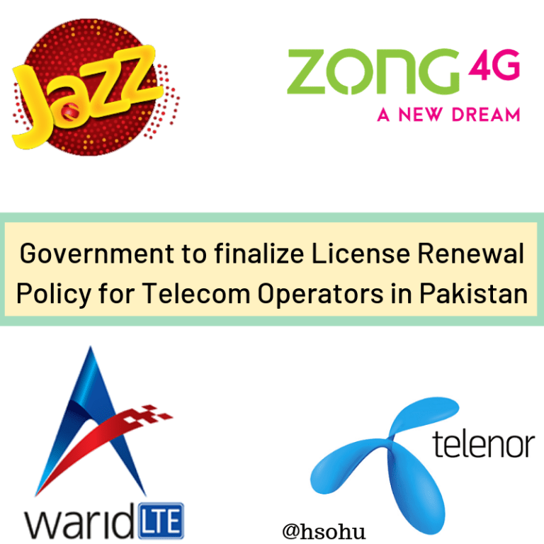 License Renewal Policy for Telecom Operators in Pakistan