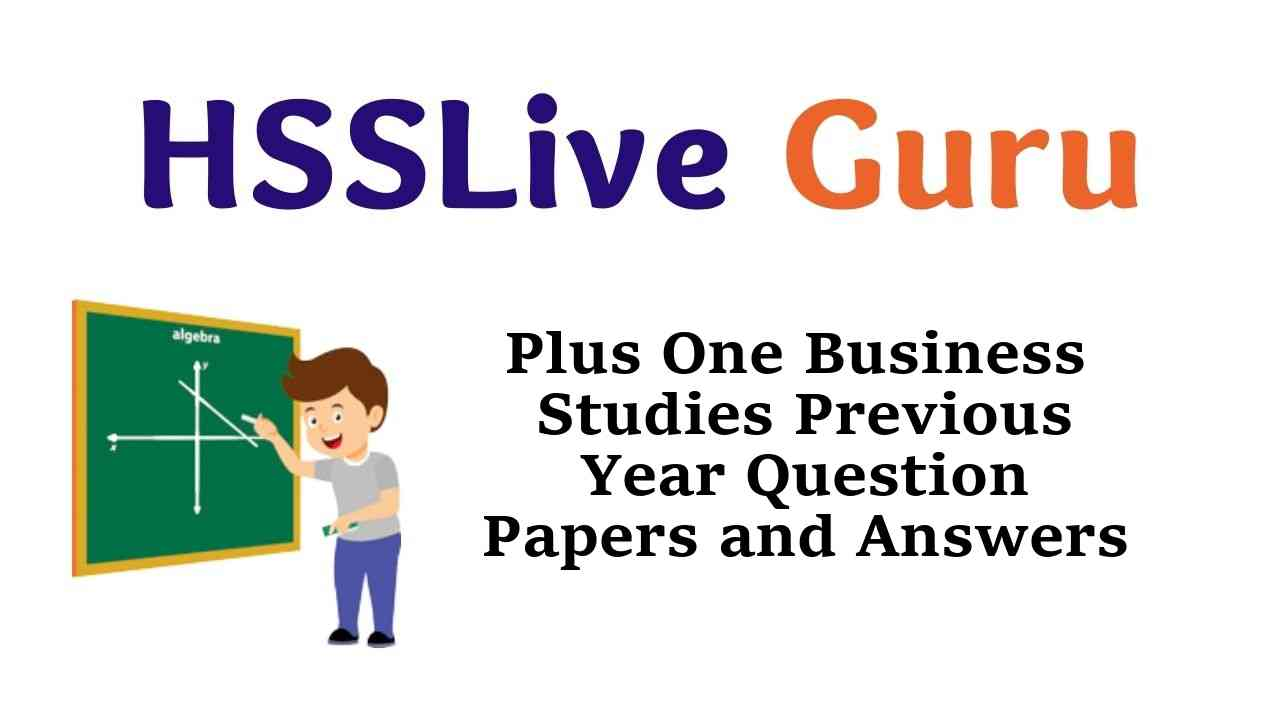 Plus One Business Studies Previous Year Question Papers and Answers Kerala