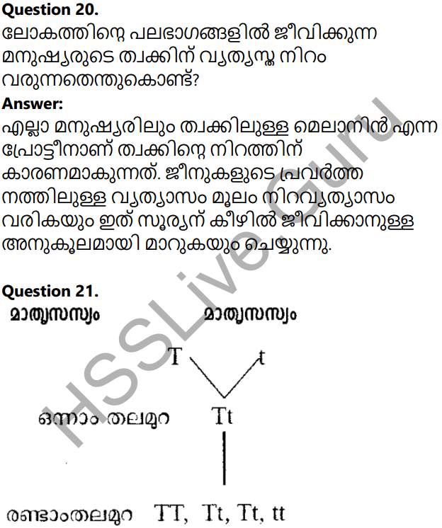 Kerala Syllabus 10th Standard Biology Solutions Chapter 6 Unravelling Genetic Mysteries in Malayalam 40