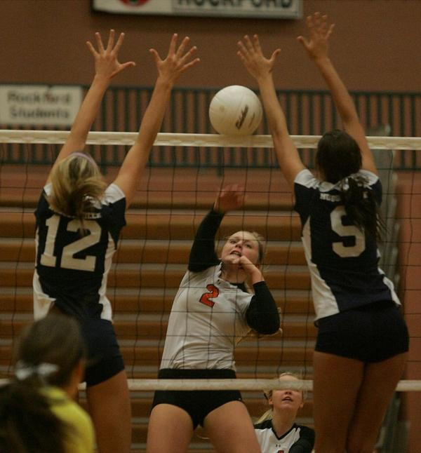 Hudsonville volleyball team upends Rockford in straight ...
