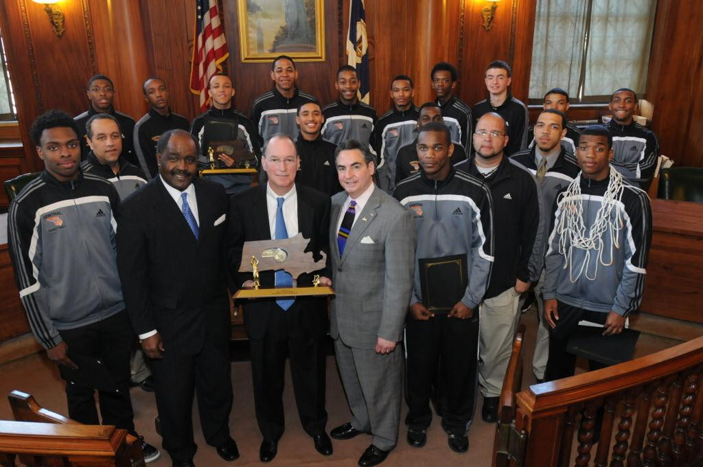 Central High School Boys Basketball Team Honored By City