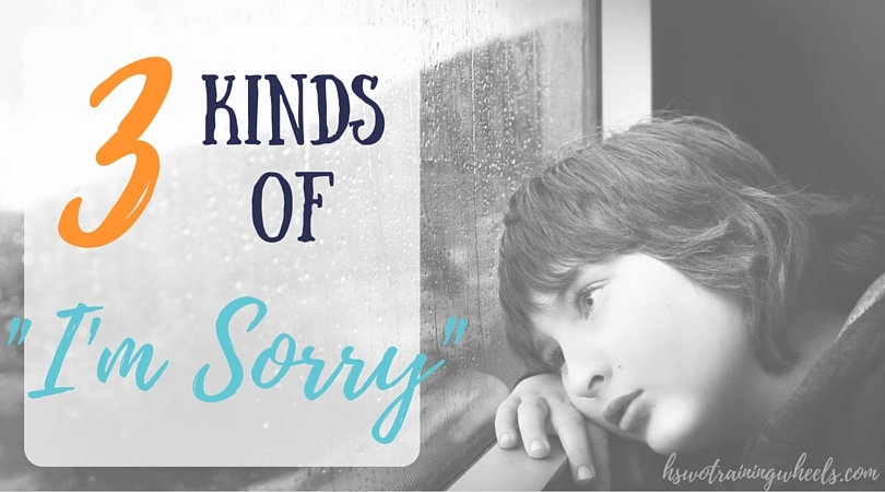 "It is difficult to say ""I'm sorry"". Teaching our children about the three different kinds of ""I'm sorry"" can help them understand what they are saying."