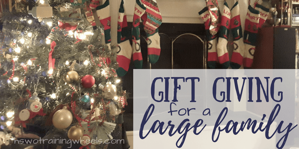 Gift Giving For A Large Family Homeschooling Without Training Wheels