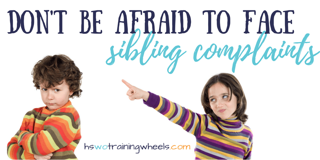 You know how fights between children begin. One kid runs in screaming with a complaint about his sibling. Start here to resolve the conflict.