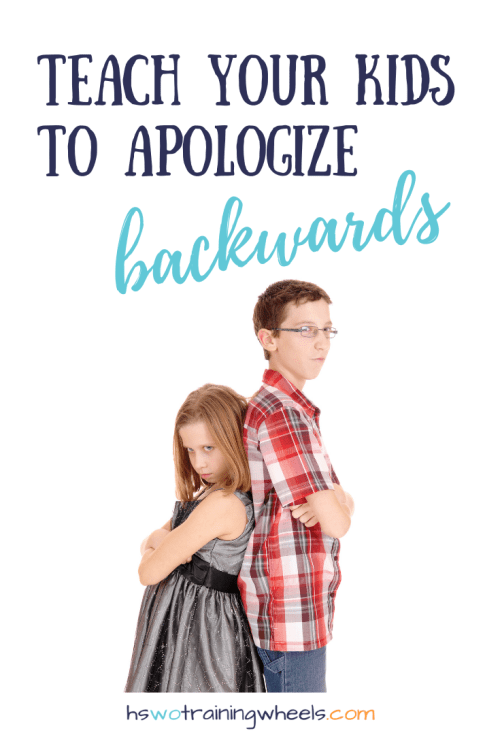 Do your children have trouble saying they are sorry or apologizing when they hurt each other? You might be going about it the wrong way.