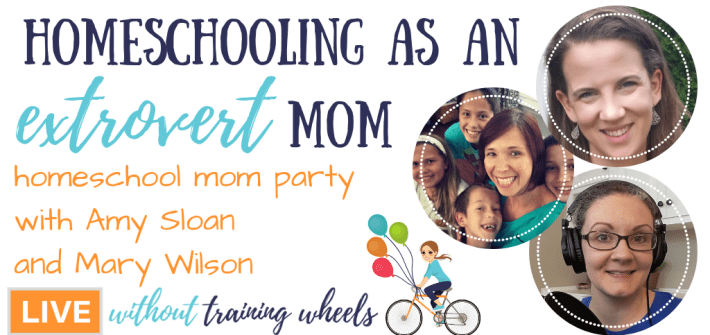 Are you a homeschooling extrovert mom? Come talk with us about the unique challenges extroverts face in the homeschool and how to recharge!