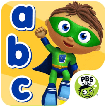 kindle fire kids app for learning to read from PBS Kids and Super Why