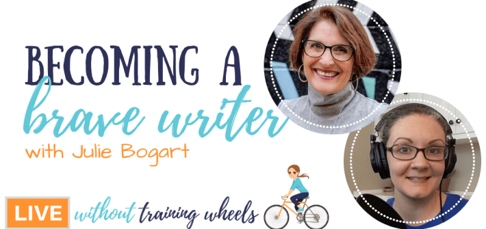 Julie Bogart joins us to talk about the Brave Writer approach to homeschool writing instruction, different from many other writing curriculum.
