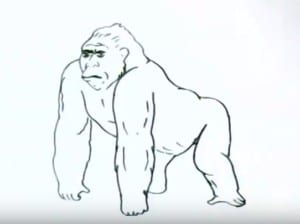 How To Draw A Gorilla Easy Step By Step Easy Animals To Draw