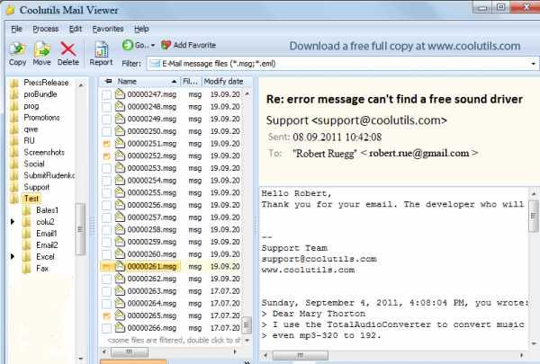 Как открыть файл eml в windows 7