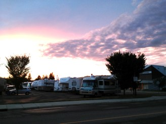 crappy rv's parked all over the Woodlea neighborhood of Red Deer, Alberta