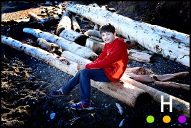outdoor portrait photography at Gowlland Point on Pender Island