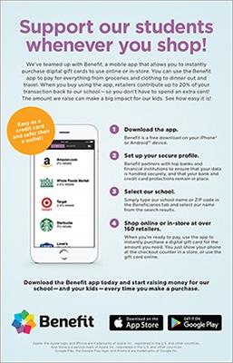benefit app flyer