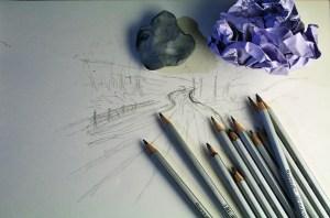 art pencils and paper