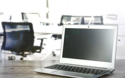 Laptop in office