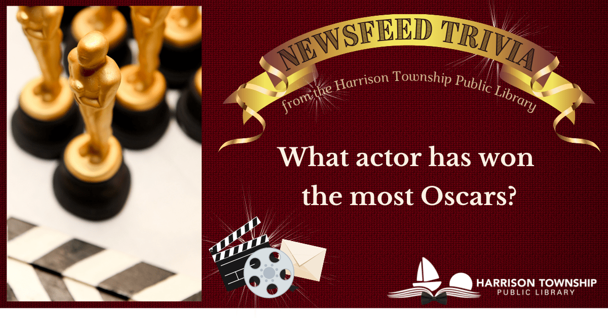Newsfeed Trivia question: What actor has won the most Oscars?