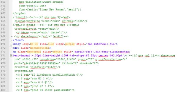 Microsoft Word Doc to HTML converter