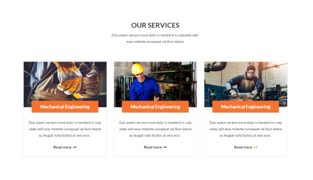 Service Section Developmen