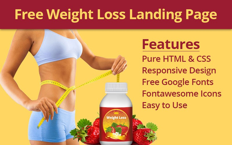 Free Weight Loss Landing Page Free Download Html Codex