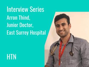 Arron Thind, Junior Doctor, East Surrey Hospital