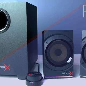 Customizable RGB Speakers Kratos S5 2.1 Gaming Speakers