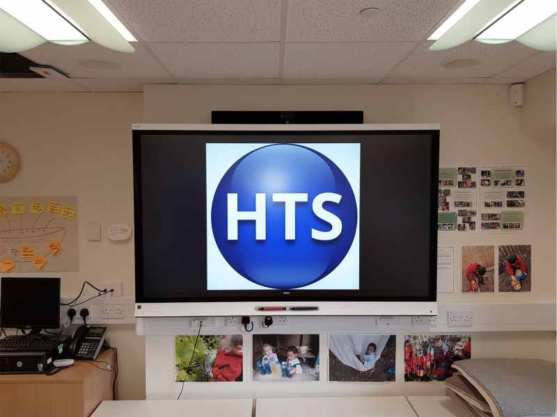 SMART Display installed by HTS in a classroom
