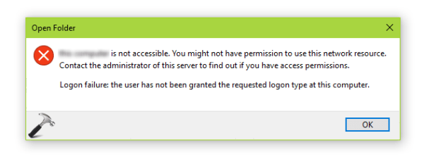 [FIX] The User Has Not Been Granted The Requested Logon ...