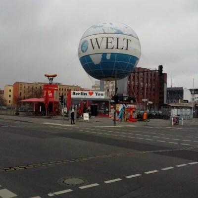 Berlin-Ost-West-Brand die Welt