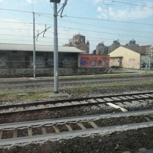 Vista dalla stazione- direzione Venezia