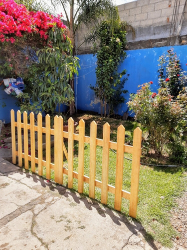 cerca de madera ideal para jardin 2 bloques de 110cm x 90cm 1 850