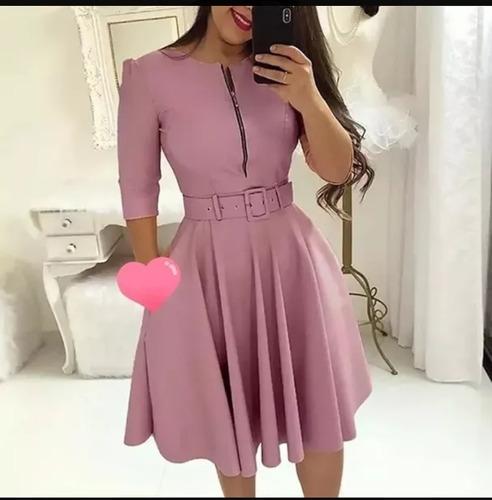 Vestido Moda Evangelica Ziper   Mercado Livre