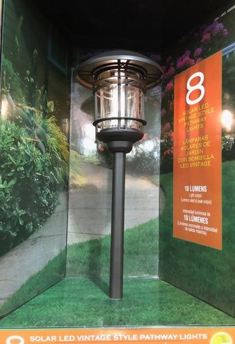 set de 8 luces solares para jardin gtx