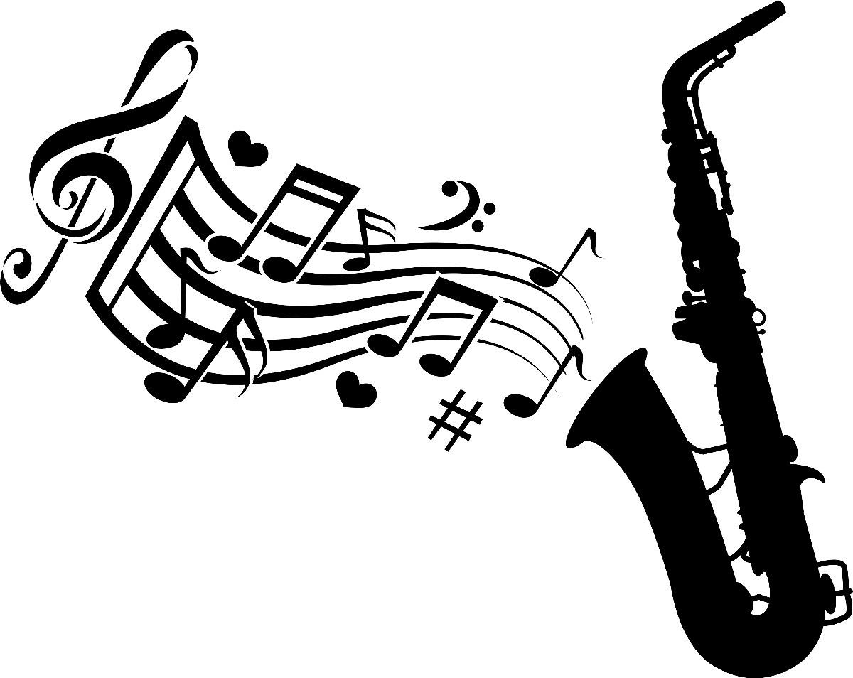 Adesivo Decorativo Parede Musica Saxofone Notas Musicais