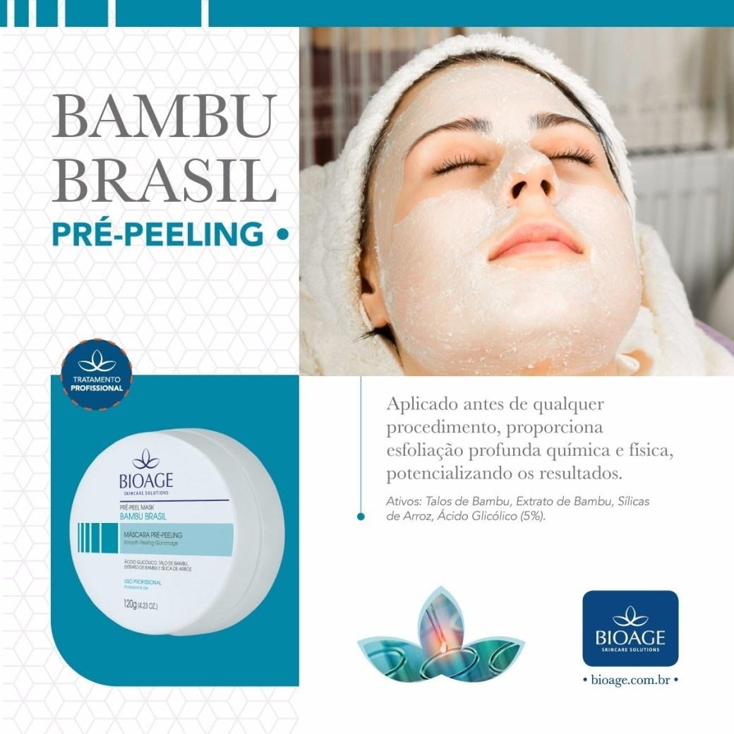 Resultado de imagem para Bambu Brasil Mascara Pré-peeling - Bioage