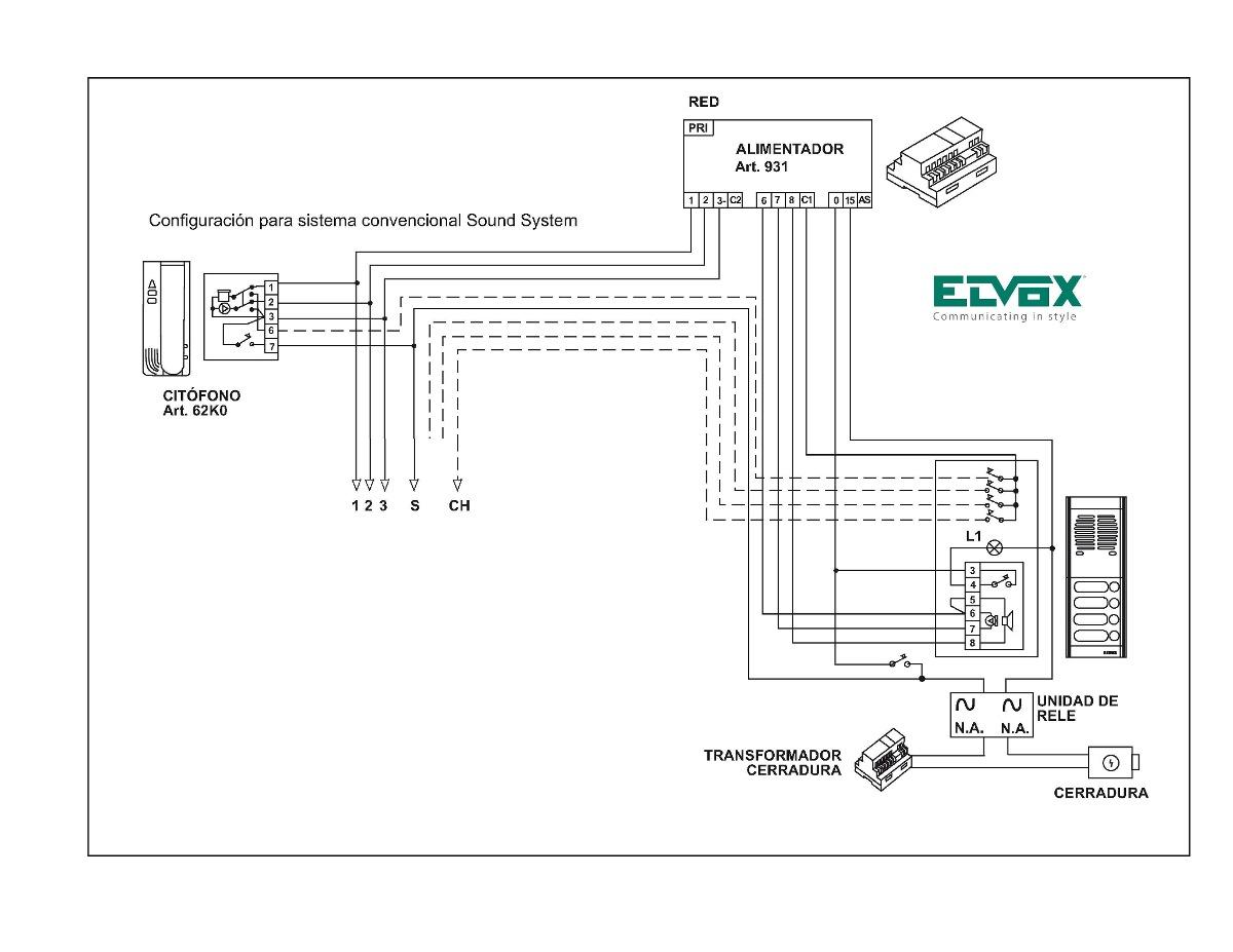 Citofono Auxiliar Universal Intercomunicador Elvox Mod