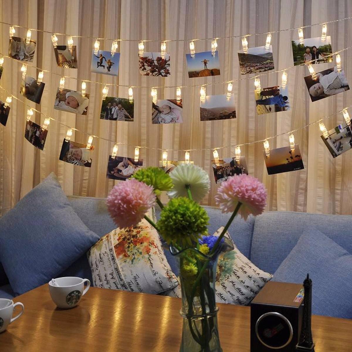 Cordo Luzes Led Varal De Fotos 20 Prendedor Imaginarium