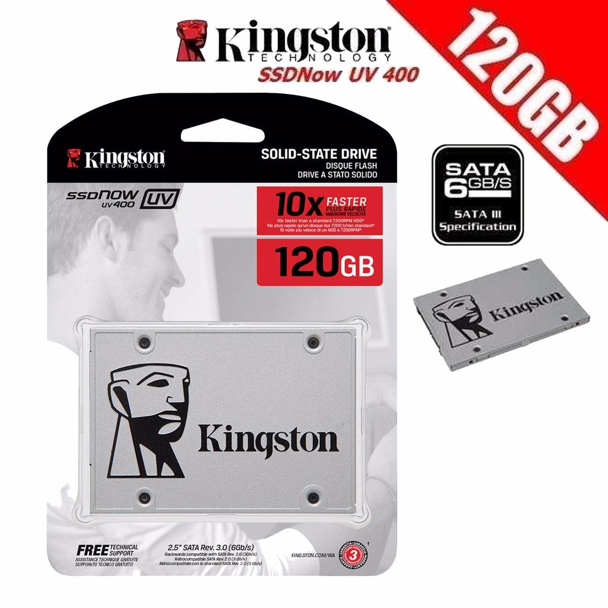 Hd Ssd 120gb Sata 3 Kingston 120 Gb Uv400 Poucas Peças Corra - R$ 194,99 em Mercado Livre