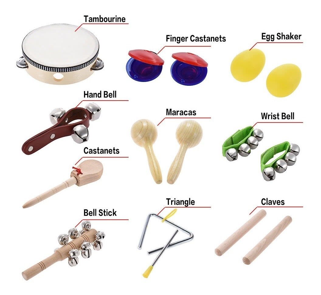 Set De Instrumento De Percusion 10pcs Musical
