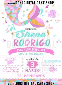 Invitaciones De Sirena Para Editar Gratis Invitaci 243 N De