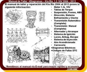 Kia Rio Manual Taller Reparacion 15 2004 A 2013 Diagramas