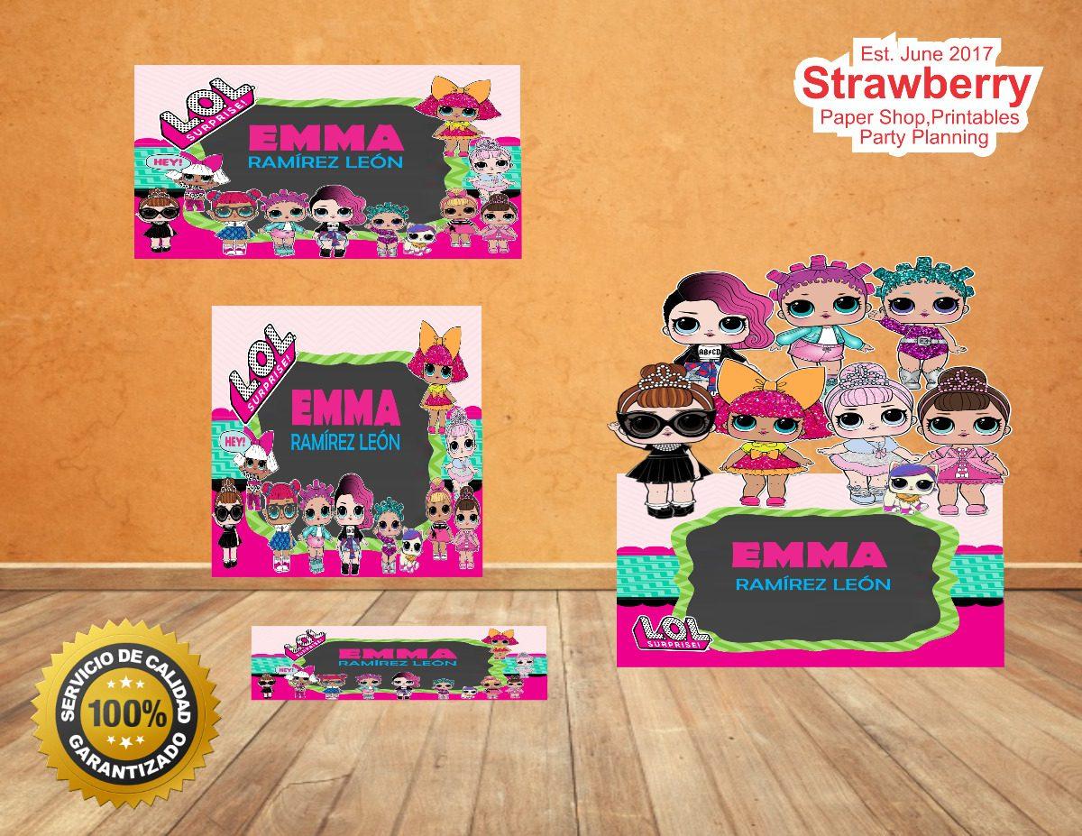 Kit De Etiquetas Escolares Lol Surprise 5000 En