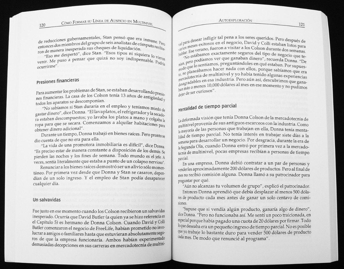 Libro: Como Formar Su Línea De Auspicio En Multinivel