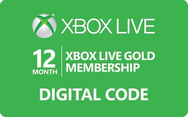 Membresia 12 Meses Live Gold Xbox One Xbox 360